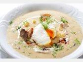 """""""Kulajda"""" – Suppe mit Pilzen und weich gekochtem Spiegelei"""
